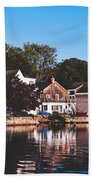 Homes On Kennebunkport Harbor Beach Towel