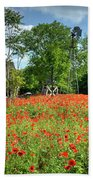 Homestead In The Poppies Beach Towel