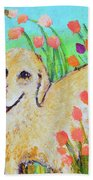 Honey In The Flower Fields Beach Towel