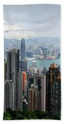 Hong Kong After Rain Beach Towel