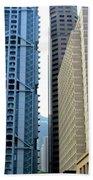 Hong Kong Architecture 49 Beach Towel