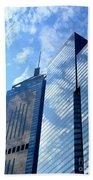 Hong Kong Architecture 58 Beach Towel