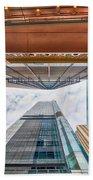 Hong Kong Buildings Colour Beach Towel