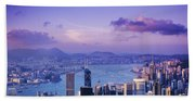 Hong Kong Harbor Beach Towel