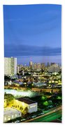 Honolulu City Lights Beach Towel