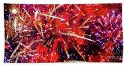 Honolulu Fireworks Beach Towel