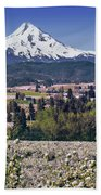 Hood River Orchards Beach Towel