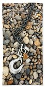Hook, Chain And Pebbles Beach Towel