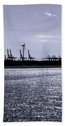 Hook Of Holland Shipping Canal Beach Towel