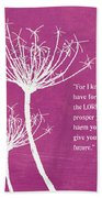 Hope And Future Beach Towel by Linda Woods