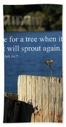 Hope For A Tree Beach Towel by James Eddy