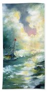 Hope In The Storm I Beach Towel