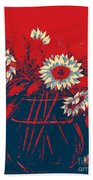 Hope Sunflowers  Beach Towel
