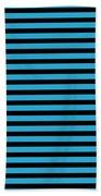 Horizontal Black Inside Stripes 18-p0169 Beach Towel