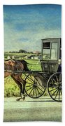 Horse And Buggy Beach Towel
