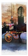 Horse And Carriage Beach Towel