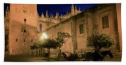 Horse And Carriage Seville Spain Beach Towel
