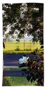 Horse And Flower Beach Towel