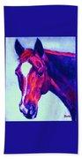 Horse Art Horse Portrait Maduro Psychedelic Beach Towel
