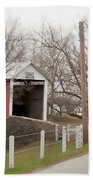 Horse Buggy And Covered Bridge Beach Towel