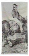 Horse Carriage Beach Towel