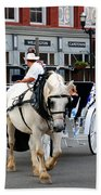Horse Carriage In Nashville Beach Towel