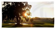 Horse Country Sunset Beach Towel