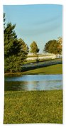 Horse Farm Pond Beach Towel
