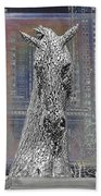 Horse In The City Beach Towel