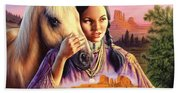 Horse Maiden Beach Towel