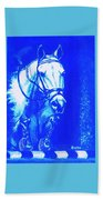 Horse Painting Jumper No Faults Aquamarine Beach Towel