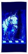 Horse Painting Jumper No Faults Blue Beach Towel