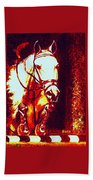 Horse Painting Jumper No Faults Deep Blues And Reds Beach Towel