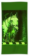 Horse Painting Jumper No Faults Deep Greens Beach Towel