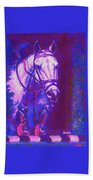 Horse Painting Jumper No Faults Purple And Blue Beach Towel