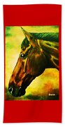 horse portrait PRINCETON yellow Beach Towel