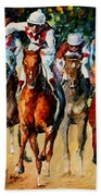Horse Race Beach Towel