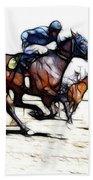 Horse Racing Dreams 1 Beach Towel