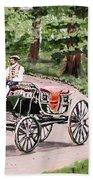 Horses And Wagon Beach Towel