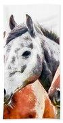 Horses - Id 16217-202757-3803 Beach Towel