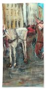 Horses In Florence Beach Towel