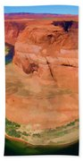 Horseshoe Bend Filters Paint  Beach Towel