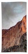 Horsetail Falls Cloudy Sunset Beach Towel