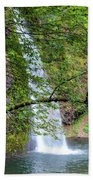 Horsetail Falls, Oregon Beach Towel