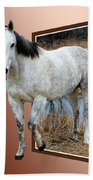 Horsing Around Beach Towel by Shane Bechler