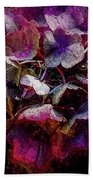 Colorful Hortensia Closeup Beach Towel