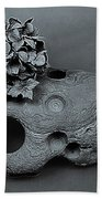 Hortensia Stone Circle Of Life Bw Beach Towel