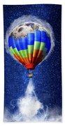 Hot Air Balloon / Digital Art Beach Towel