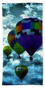 Hot Air Balloons In Albuquerque Beach Towel