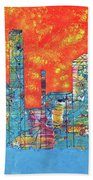 Hot Day In The City Beach Towel